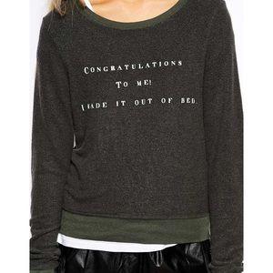 Wildfox baggy beach congratulations bed sweatshirt
